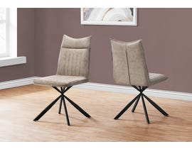 Monarch Fabric Dining Chair (Set of 2) in Taupe I1216