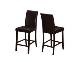 Monarch DINING CHAIR - 2PCS / BROWN LEATHER-LOOK COUNTER HEIGHT I1901