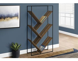 Monarch Reclaimed Wood-look Bookcase in Brown I2202