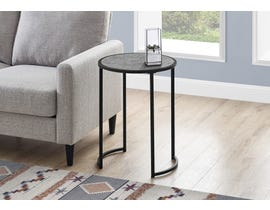 Monarch Metal Grey Stone-look Accent Table in Black I2206