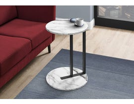 Monarch White Marble-Look Accent Table in Black I2210