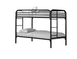 Monarch twin / twin size / black metal Bunk Bed I2230K