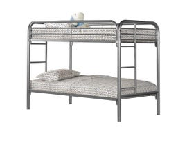 Monarch twin / twin size / silver metal Bunk Bed I2230S