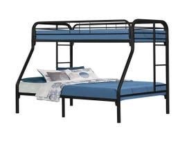 Monarch Twin-Over-Full Bunk Bed in Black Metal I2231K