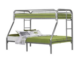 Monarch Twin-Over-Full Bunk Bed in Silver Metal I2231S