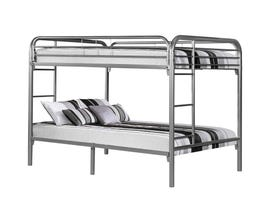 Monarch Full Bunk Bed in Silver Metal I2233S