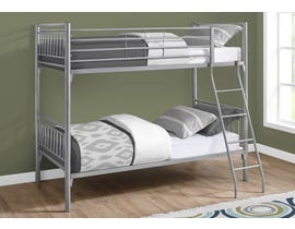 Monarch Twin Detachable Bunk Bed in Silver Metal I2234S