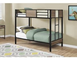 Monarch Twin Bunk Bed in Dark Taupe Metal I2237B