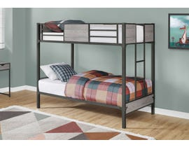 Monarch Twin Bunk Bed in Dark Grey Metal I2237G