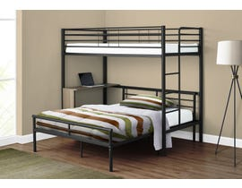 Monarch Twin-over-Full Bunk Bed with Desk in Black I2240B