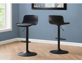 Monarch Metal Hydraulic Lift Barstool (Set of 2) in Black I2313