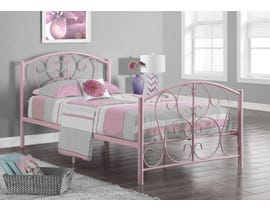 Monarch Bed Twin Size Pink Metal Frame Only I2390P