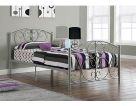 Monarch Twin Bed Frame in Silver Metal I2390S