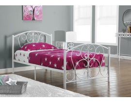 Monarch Twin Bed Frame in White Metal I2390W