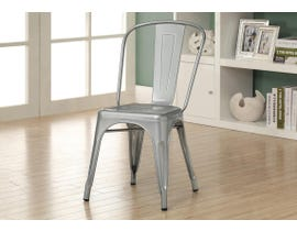 "Monarch DINING CHAIR - 2PCS / 33""H / SILVER GALVANIZED METAL I2412"