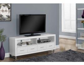 Monarch 60 inch TV Stand in White I2518