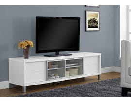 """Monarch TV STAND - 70""""L / WHITE EURO STYLE I2537"""