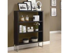 """Monarch Bookcase 60""""H Cappuccino Chrome Metal Room Divider I2558"""