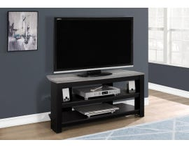 "Monarch TV STAND - 42""L / BLACK / GREY TOP CORNER I2564"