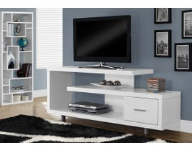 Monarch 1 Drawer TV Stand in White I2573