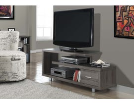Monarch 1 Drawer TV Stand in Dark Taupe I2574