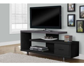 Monarch 1 Drawer TV Stand in Black/Grey I2575