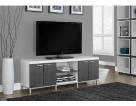 Monarch TV Stand in White/Grey I2591