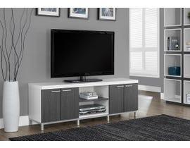 """Monarch TV STAND - 60""""L / WHITE / GREY I2591"""