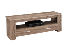 """MONARCH TV Stand - 48""""L / DARK TAUPE WITH 2 STORAGE DRAWERS"""