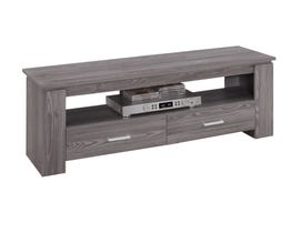"MONARCH TV Stand - 48""L / GREY WITH 2 STORAGE DRAWERS"