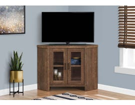 "Monarch 42"" TV Stand with Glass Doors in Brown I2707"