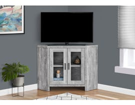 Monarch TV Stand with Reclaimed Wood-look in Grey I2715