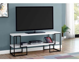 Monarch  Metal TV Stand in White I2731