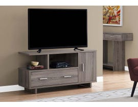 Monarch TV Stand with Storage in Dark Taupe I2802