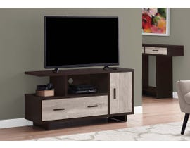 Monarch TV Stand in Cappuccino/Taupe I2805
