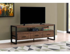 Monarch 3 Drawer TV Stand in Brown I2820