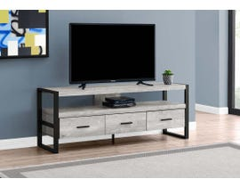 Monarch 3 Drawer TV Stand in Grey I2821