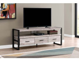 Monarch 3 Drawer TV Stand in Taupe I2822