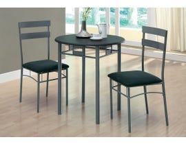 Monarch DINING SET - 3PCS SET / BLACK / SILVER METAL I3095