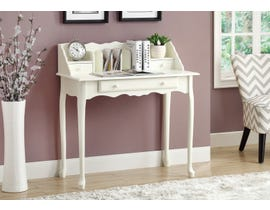 "Monarch DESK  36""L ANTIQUE WHITE TRADITIONAL I 3103"
