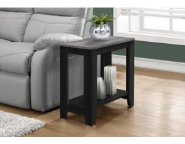 Monarch ACCENT TABLE - BLACK / GREY TOP I3134