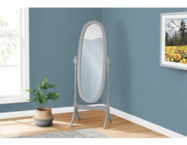 Monarch Oval Wood Frame Mirror in Grey I3155