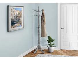 Monarch Traditional Wood Style Coat Rack in Grey I3179