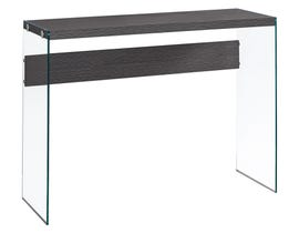 MONARCH Accent Table- GREY WITH TEMPERED GLASS