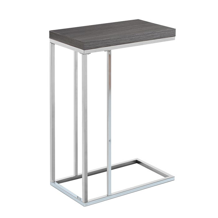 MONARCH Accent Table- GREY WITH CHROME METAL