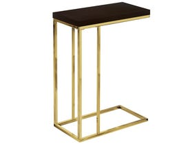 Monarch ACCENT TABLE - CAPPUCCINO / GOLD METAL I3235