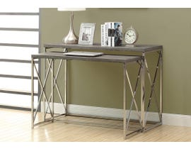 "Monarch ACCENT TABLE - 46""L / 2PCS SET / DARK TAUPE/ Chrome METAL I3257"