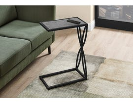 Monarch Grey Stone-Look Accent Table in Black I3305