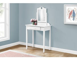 Monarch Vanity with Storage Drawer in White I3326