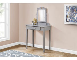 Monarch Vanity with Storage Drawer in Grey I3327